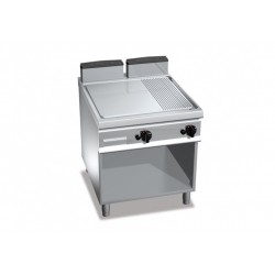 Fry Top rigato su mobile 14 Kw serie Exclusive 900
